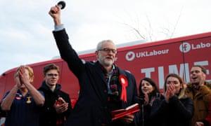Jeremy Corbyn speaks to supporters in Middlesbrough.