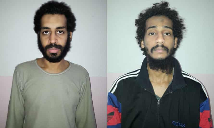 Alexanda Kotey, left, and El Shafee Elsheikh were sent to US custody in Iraq last week.