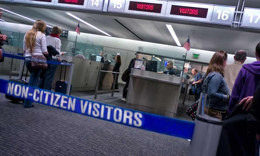 Immigration passport control at San Francisco airport