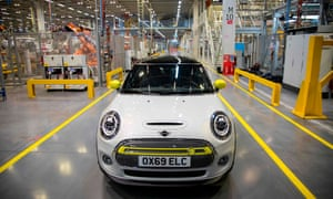 The new MINI electric car at the BMW group plant in Cowley, near Oxford