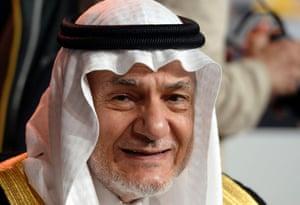 Saudi Arabia's Prince Turki al-Faisal