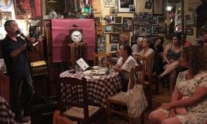 Open mic night in a local bar