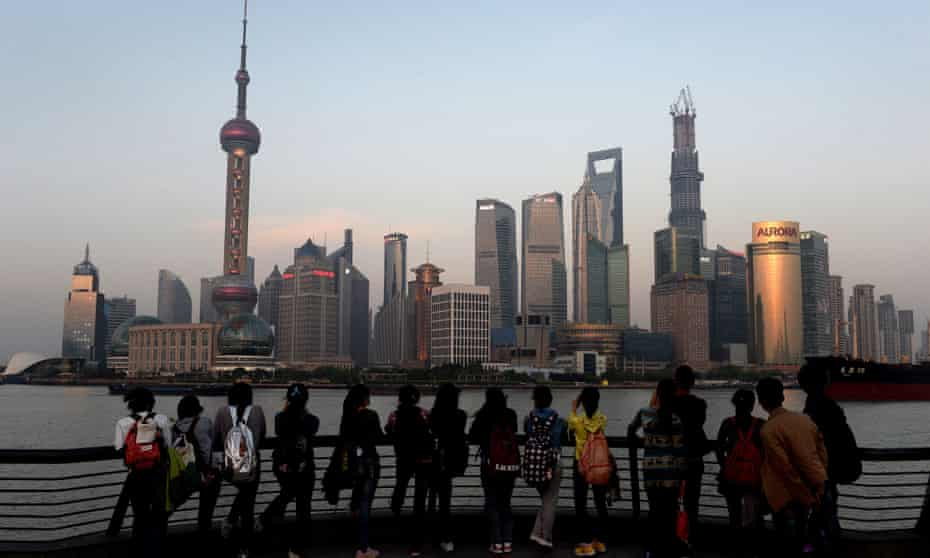 Shanghai's Pudong financial district, 2013