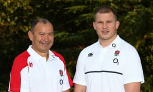 Eddie Jones, left, says of Dylan Hartley, the new England captain: 'Dylan can lead the side with the sort of attitude we want. We need to get back to what the rest of the world fears about English rugby and that's their forward play.'