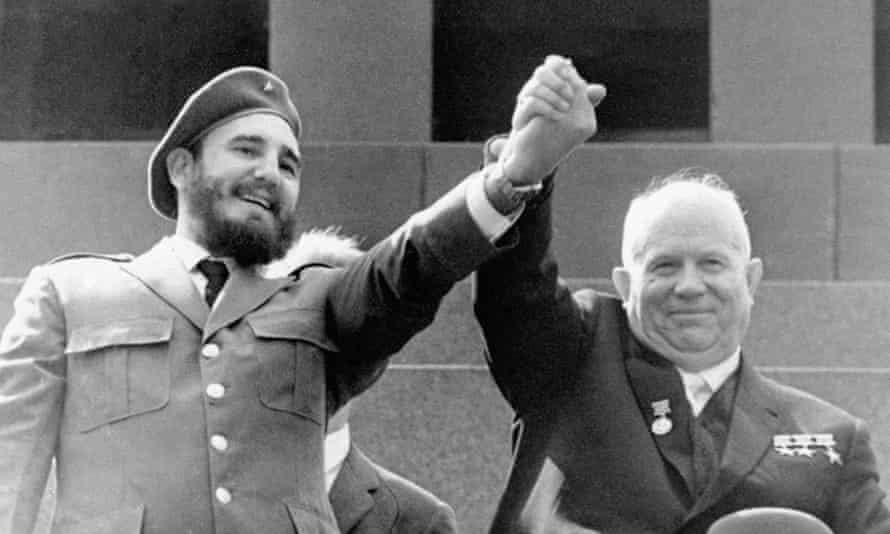 Fidel Castro with Nikita Khrushchev in Moscow in 1963.