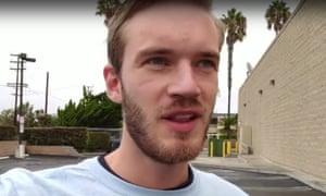 PewDiePie top you tuber whose real name is Felix Kjellberg