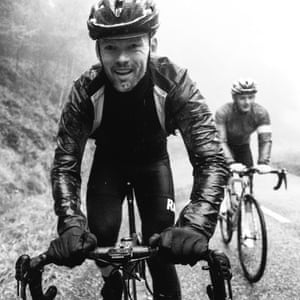 Rasmus Poulsen, from Denmark, climbs through driving rain on stage four.