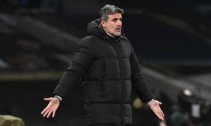 Zoran Mamic on the touchline during Dinamo Zagreb's Europa League first leg against Spurs last week. He has resigned as head coach.