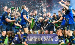 Leinster celebrate winning the Champions Cup in May but will mount their defence in a tough pool next season.