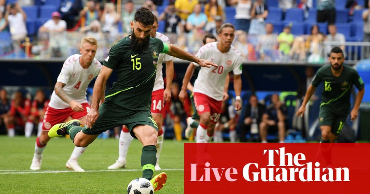dcb7862ddae Denmark 1-1 Australia  World Cup 2018 – as it happened