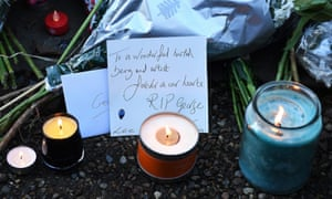 Tributes to George Michael outside his home in London.