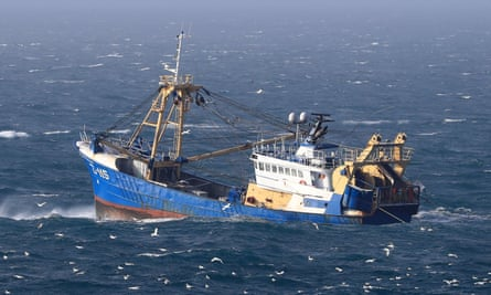 A fishing boat at work in the Channel