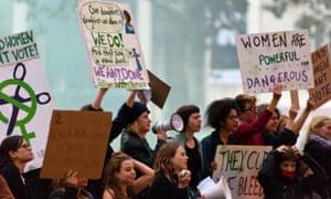 Sisters Uncut protest at the Suffragette premiere