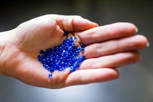 Blue PVC record compound