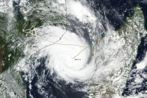 Images from NASA's Terra satellite on 12 March show Idai as it spun across the Mozambique Channel