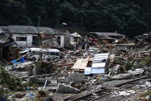 A village in Kumamura in Kumamoto prefecture. Japan will deploy more troops to search for survivors of the floods and landslides