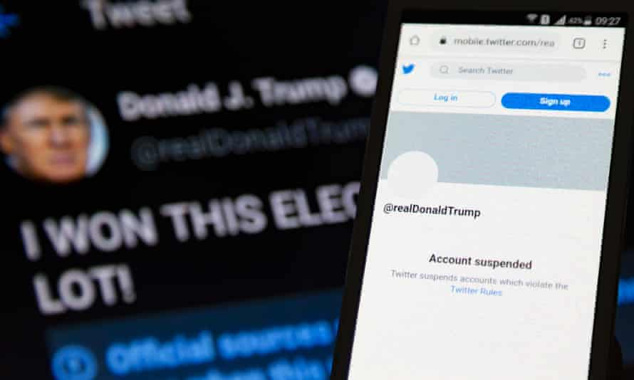 Trump's Twitter account suspended