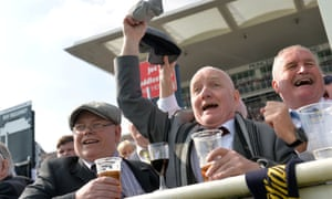 Racegoers at the Grand National, on Saturday.