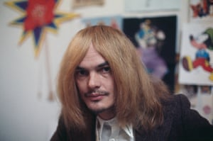 Alan Aldridge at a London design studio in 1970.