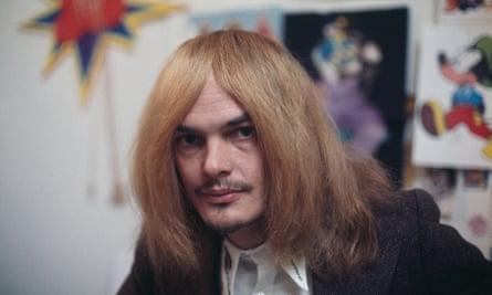 Alan Aldridge in the early 1970s. He was once called 'Beardsley in blue jeans'.