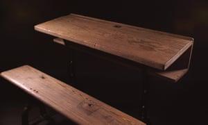 Seamus Heaney's school desk at HomePlace