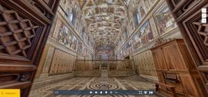 The Vatican's Sistine Chapel virtual tour.