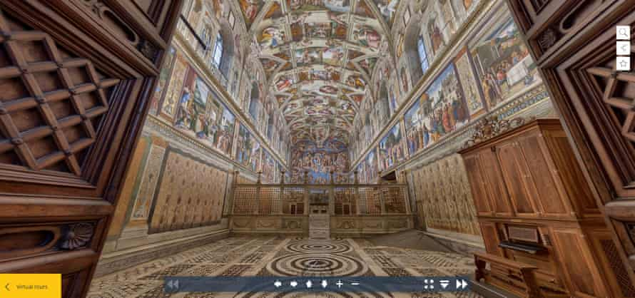 The Vatican's Sistine Chapel virtual tour.
