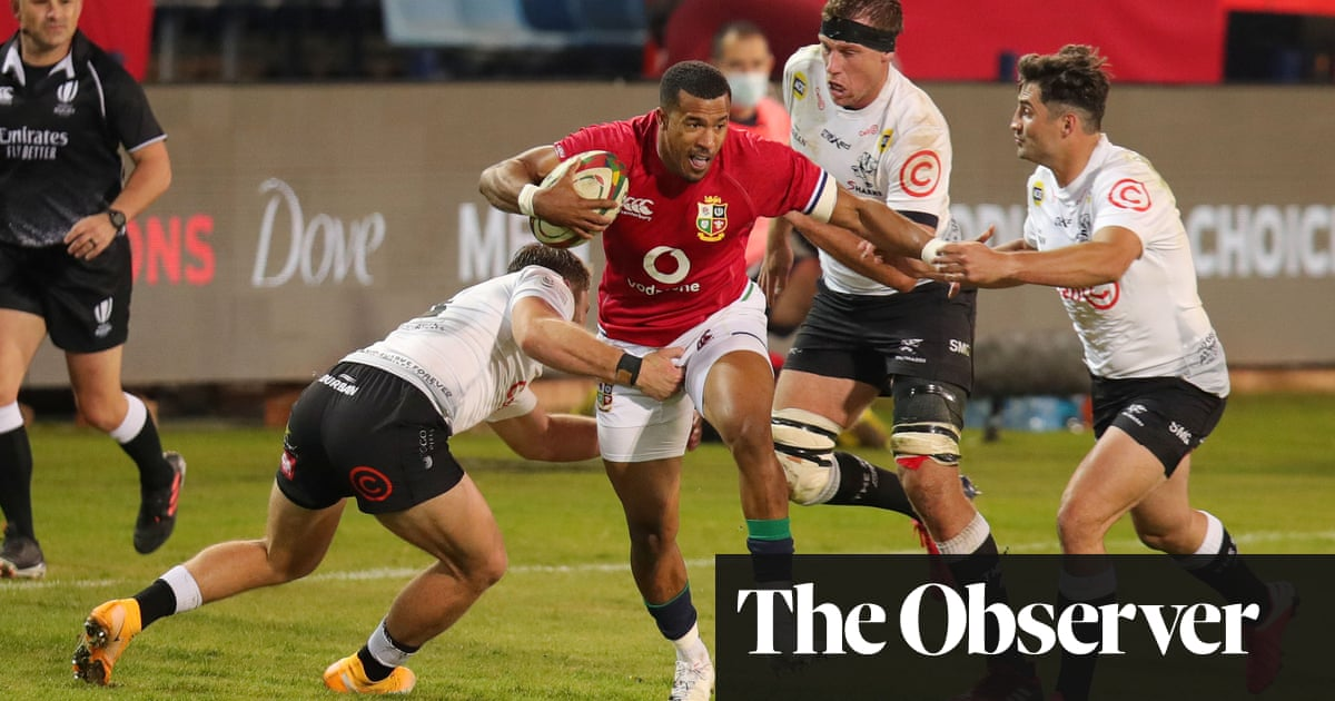 Anthony Watson turns on the style to help Lions polish off 14-man Sharks