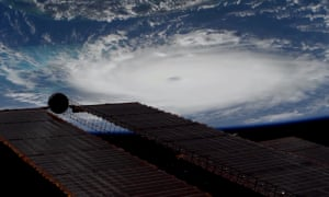 A screen grab from a handout video made available by NASA taken from the International Space Station (ISS) showing Hurricane Dorian.
