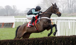 Altior and Nico de Boinville on their way to victory.