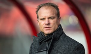 Dennis Bergkamp during his time as assistant manager at Ajax.