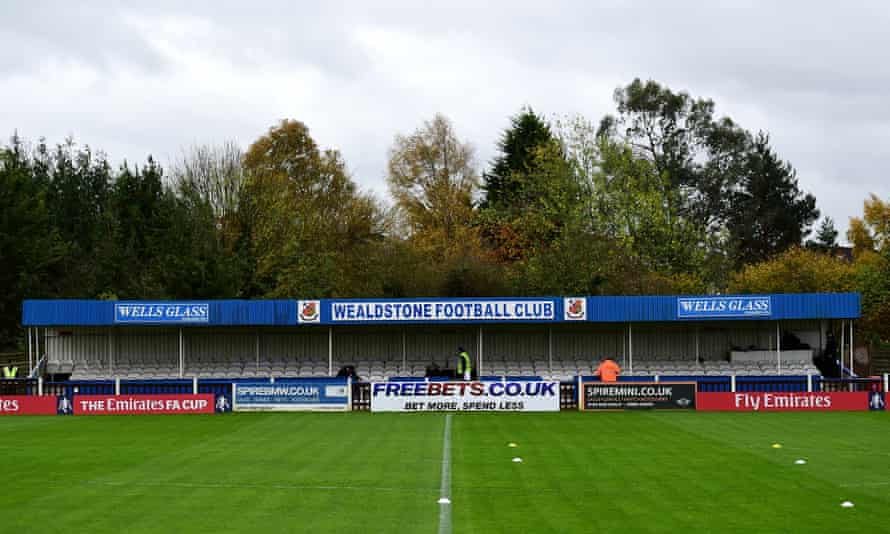 Wealdstone's stadium, pictured here in 2015, will be empty for Saturday's game at home to Chesterfield.