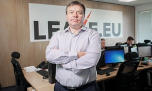 Arron Banks, businessman and co-founder of the Leave.EU campaign, at a campaign call centre in Bristol.