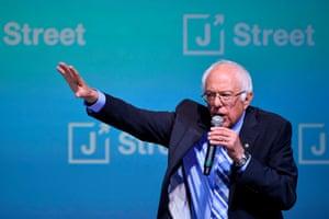 Bernie Sanders speaks during the J Street National Conference.