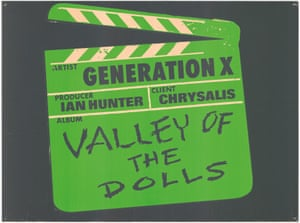 A promotional badge for Generation X's 1979 album Valley of the Dolls – their second studio album. Afterwards, singer Billy Idol would strike out on his own, becoming a huge punk/pop star in the 80s