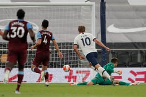 Harry Kane scores the second goal.