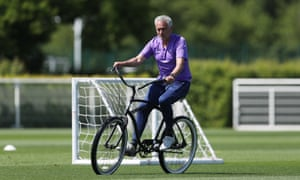 José Mourinho goes for a ride as his Tottenham Hotspur players returned to small group training last week