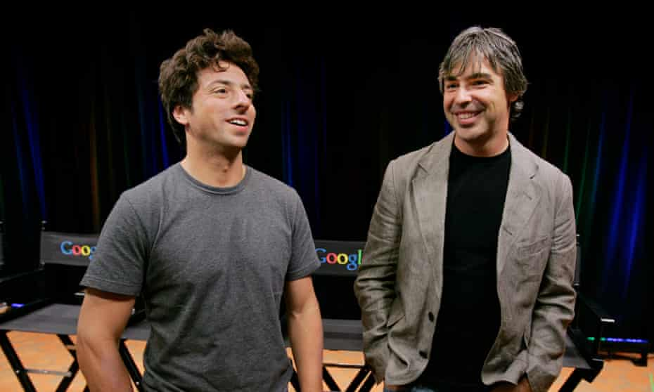 Sergey Brin, left, and Larry Page in 2008.
