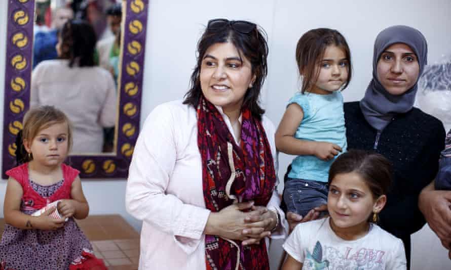 Sayeeda Warsi with Syrian refugees in Turkey, 2017