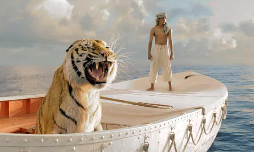 Suraj Sharma as Pi Patel, in the 2013 film of Yann Martel's Life of Pi.