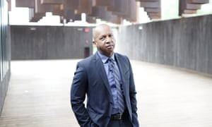 Bryan Stevenson at Alabama's Memorial to Peace and Justice, which he founded.