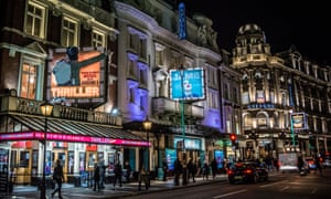 Thriller and Jamie in theatres on Shaftesbury Avenue in London.