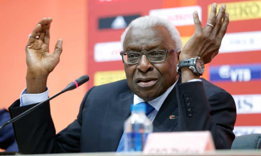 Former president of the IAAF Lamine Diack is being investigated for allegedly accepting payments to defer doping sanctions against Russian athletes.