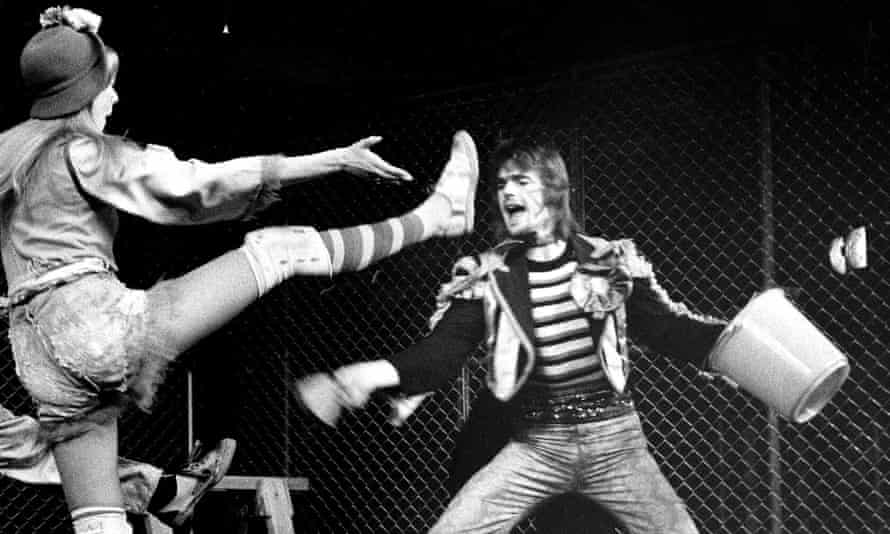 'I dance like a duck' … Jeremy Irons, right, as Judas in London; the musical's first commercial staging in New York was 50 years ago this month.