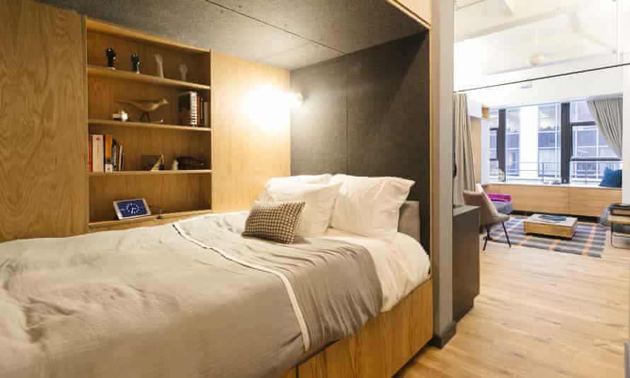 A WeLive bedroom.