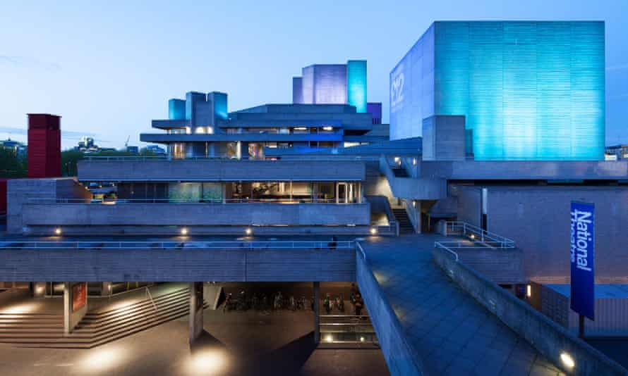 Denys Lasdun's National Theatre, built in 1975 on London's South Bank.
