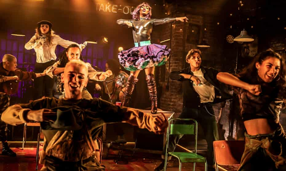 'We didn't know what tier 3 would mean for us' … the company of Rent at Hope Mill theatre in Manchester.