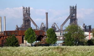 The British Steel works in Scunthorpe.