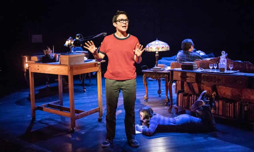 Kaisa Hammarlund and Brooke Haynes, as young Alison, in Fun Home.