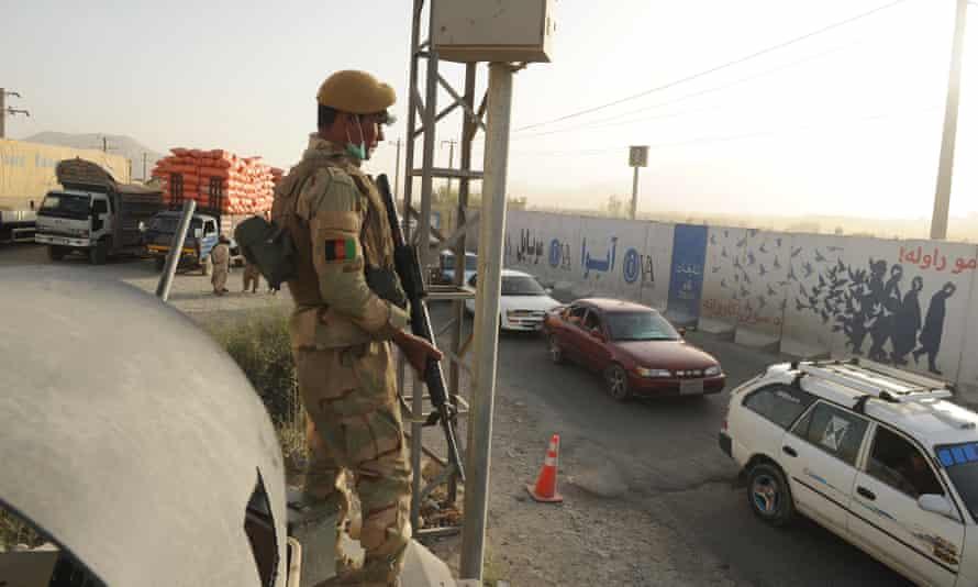 An Afghan army member Ghazni
